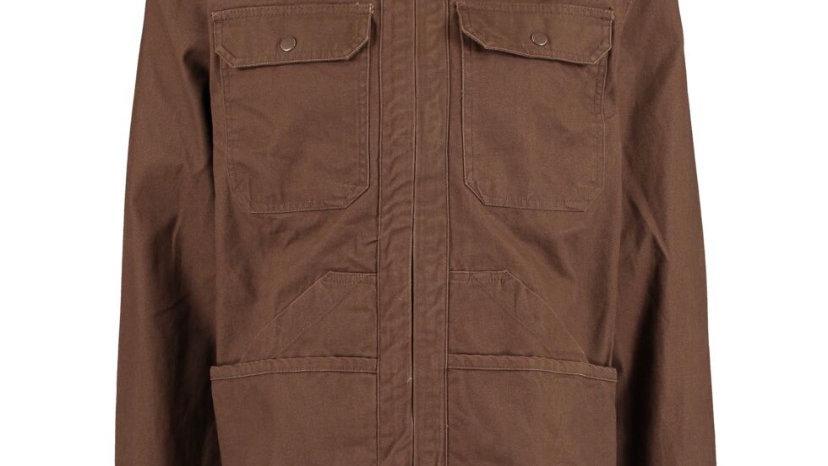 KRONSTADT Brown Canvas Overshirt