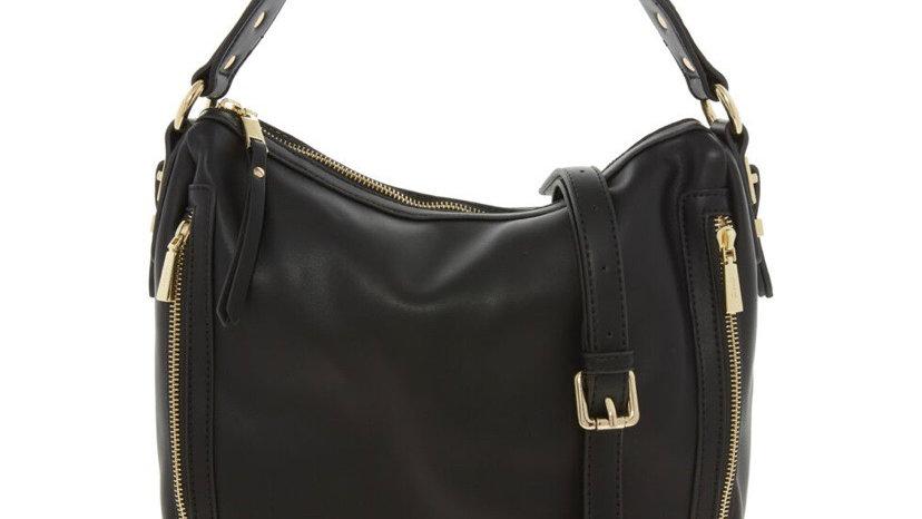 GIONNI Black Leather Cross Body Bag