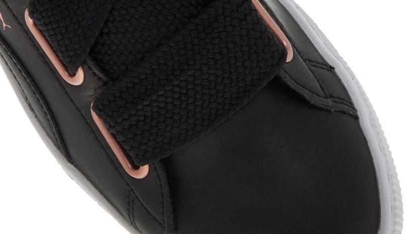 Puma Black Leather Chunky Lace