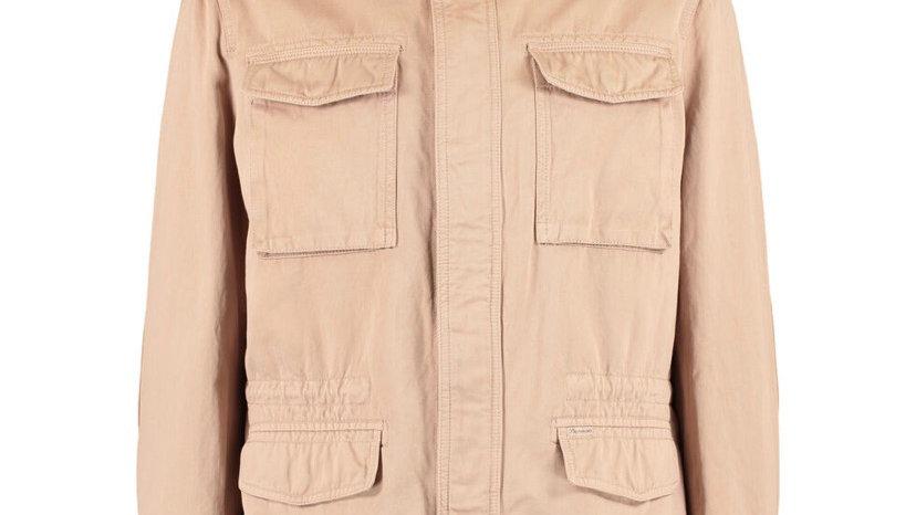 FACCONABLE Beige Lightweight Hooded Overcoat