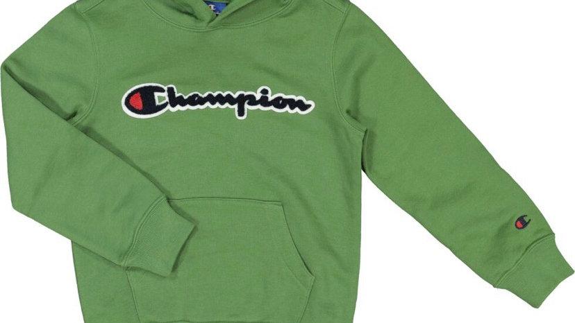 CHAMPION Green Logo Jersey Hoodie