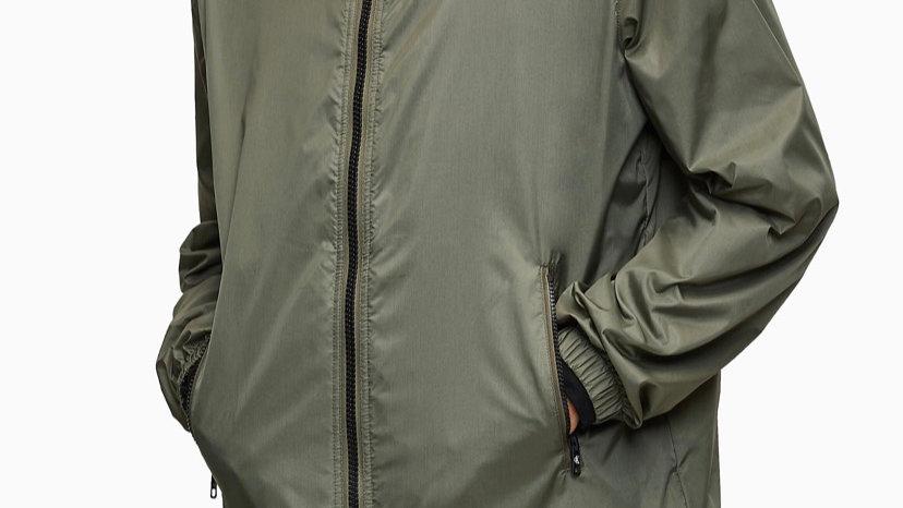 Calvin Klein - RECYCLED NYLON LOGO JACKET GREEN