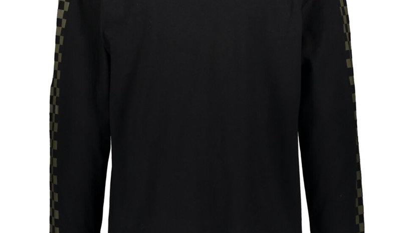 WESC Black & Gold Check Long Sleeve T Shirt