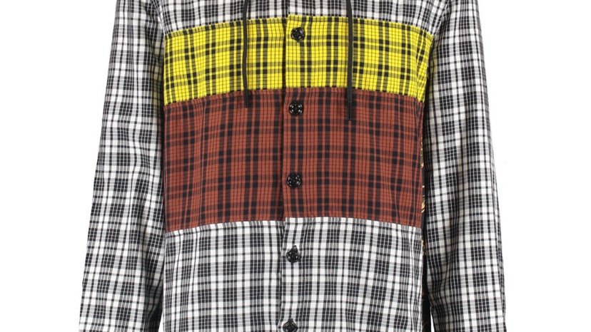 DIESEL Multicolour Mixed Check Hooded Shirt