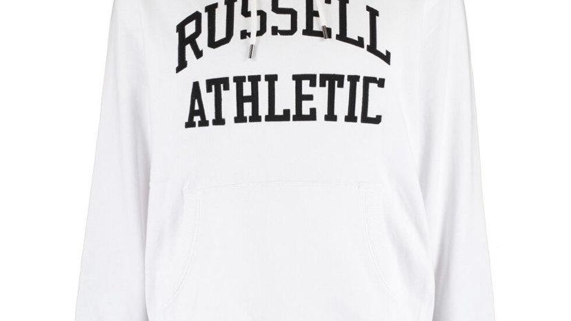 RUSSELL ATHLETIC White & Black Logo Hoodie