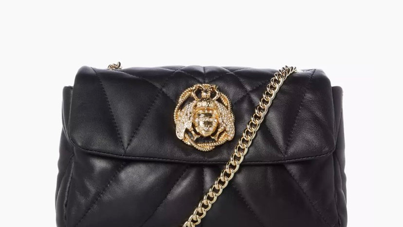 DUNE LONDON - Black Small Leather Quilt Bag