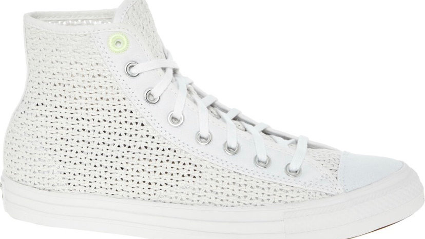 CONVERSE White Woven Lace Up Trainers