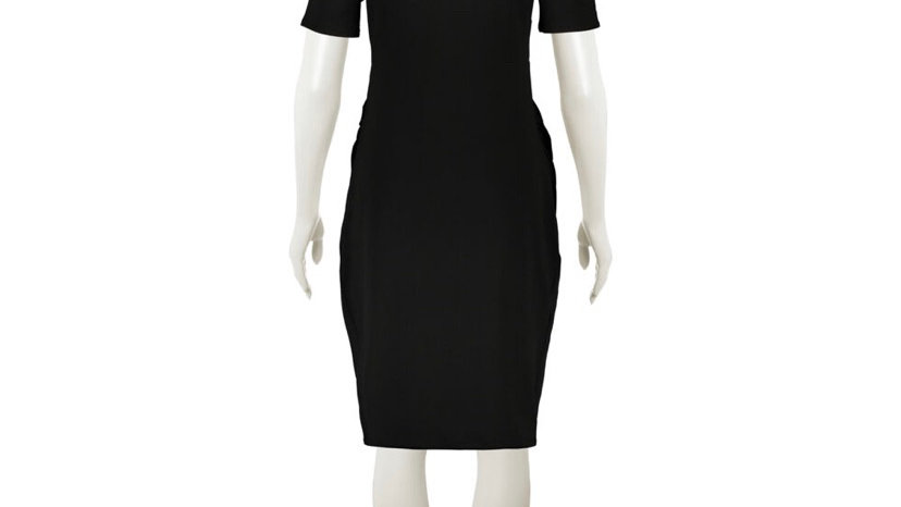 FOREVER Black Bodycon Maternity Dress