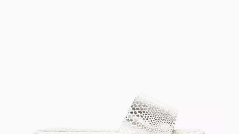 HEAD OVER HEELS - Silver Open Toe Slider