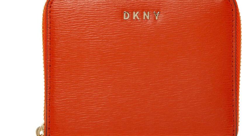 DKNY Orange Bryant Zip Around Purse
