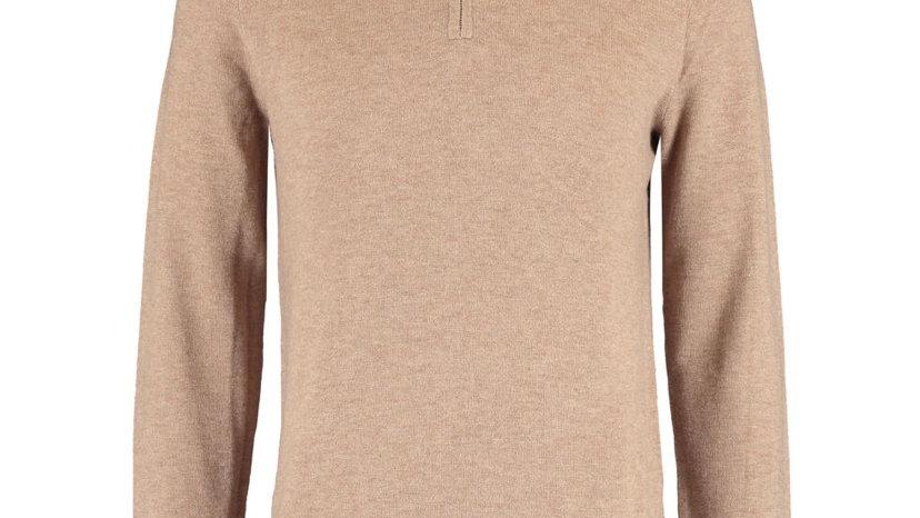 WILLIAM HUNT Light Brown Wool Blend Jumper