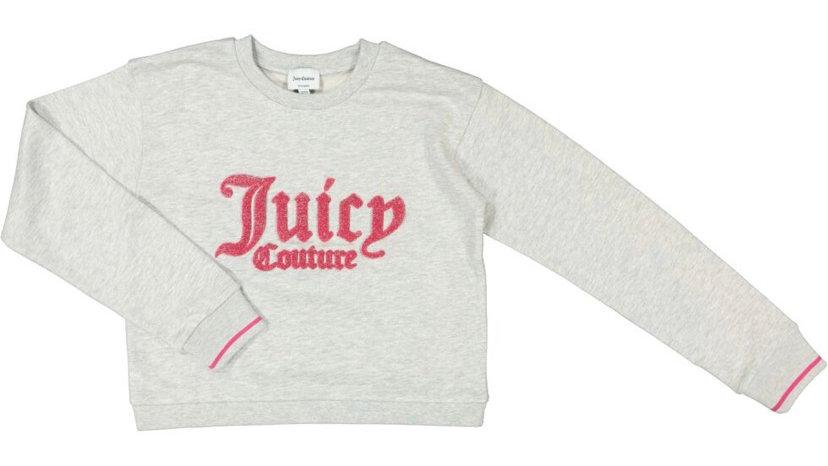 JUICY COUTURE Heather & Pink Logo Sweatshirt