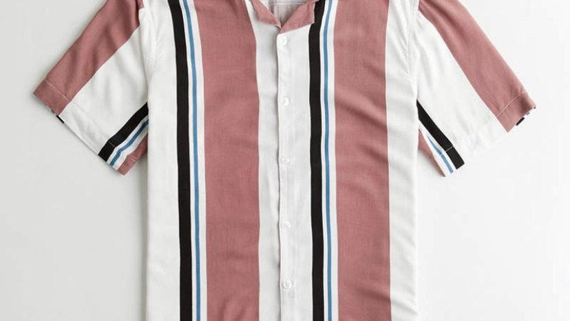 Hollister Pink Stripe Shirt