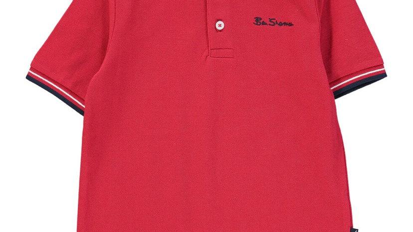 BEN SHERMAN Tango Red Polo Shirt