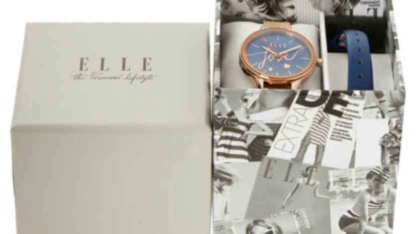 ELLE Two Piece Rose Gold Watch