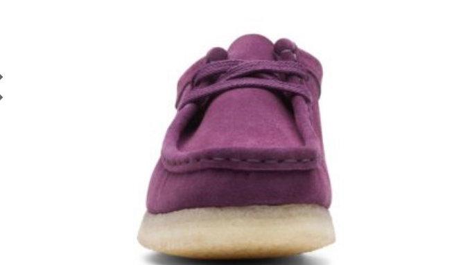 Clarks Wallabee Purple