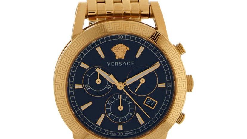 VERSACE Gold-Tone Sport Tech Watch