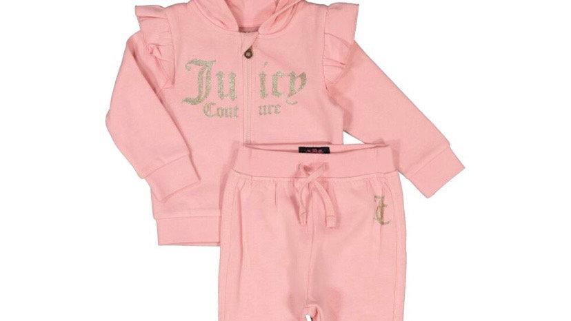 JUICY COUTURE Pink Hoodie & Jogger Set
