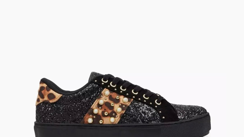 HEAD OVER HEELS - Leopard Embellished Trainers