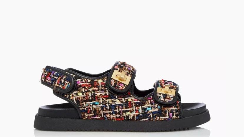 DUNE LONDON - Double Strap Flat Sandals