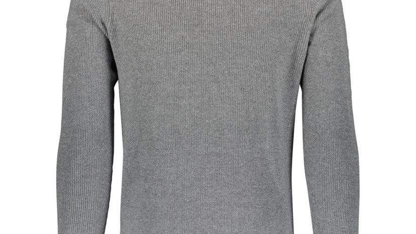 PAUL COSTELLOE Grey Zipped Neck Jumper