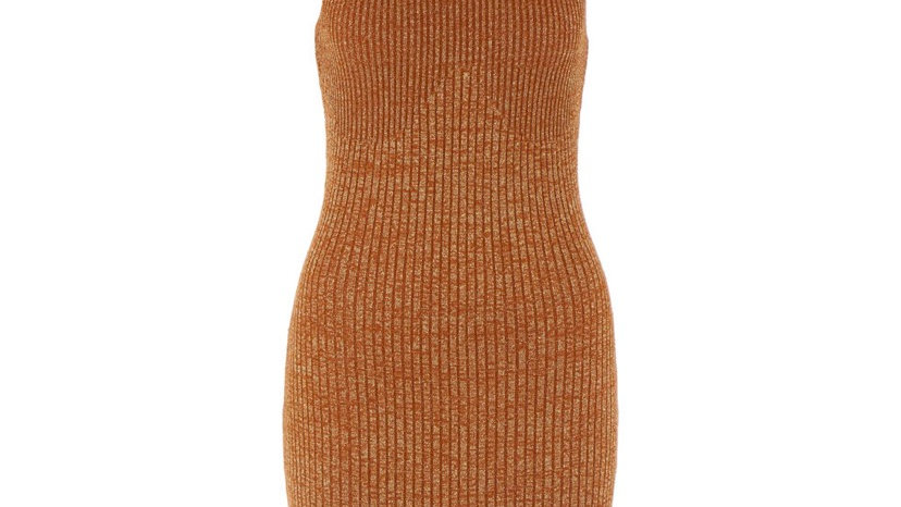 Camel & Gold Bodycon Dress (Green Other)