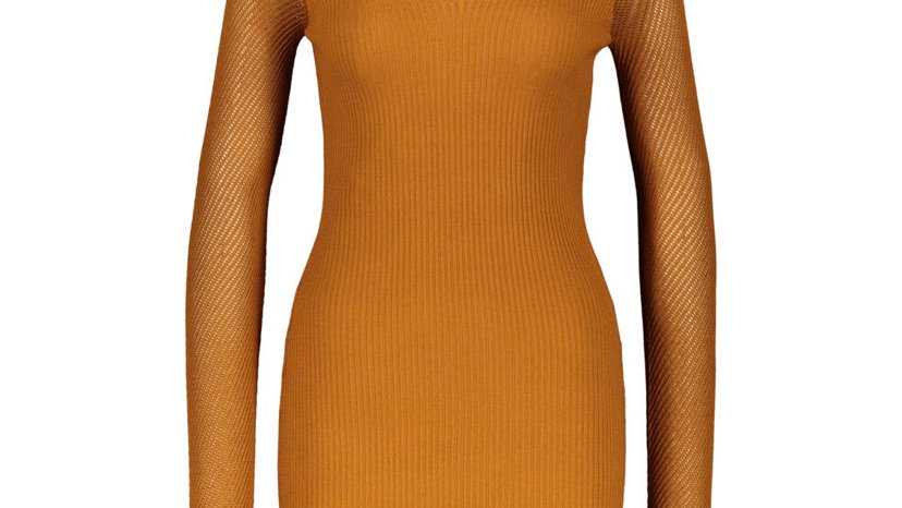 LOVE ALWAYS Rust Jumper Dress