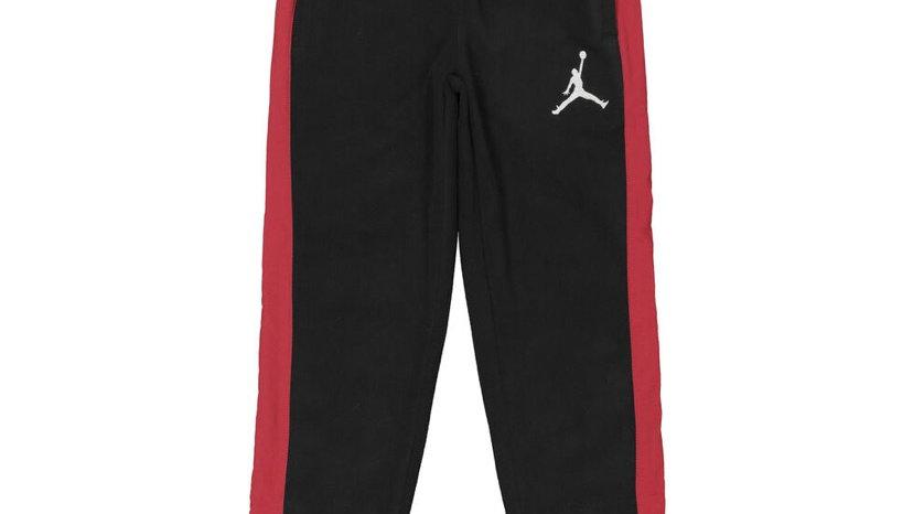 AIR JORDAN Black & Red Taped Fleece Joggers