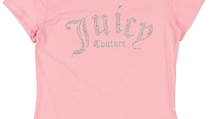 JUICY COUTURE Pink Jeweled Logo T Shirt