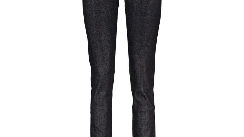 RAG & BONE Black Contrast Stitching Skinny Leg Jeans