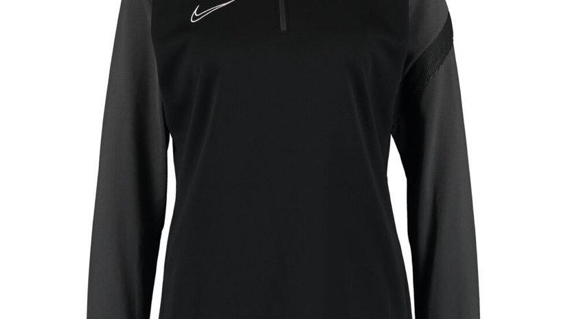 NIKE Black & Grey Logo Zip Neck Jacket