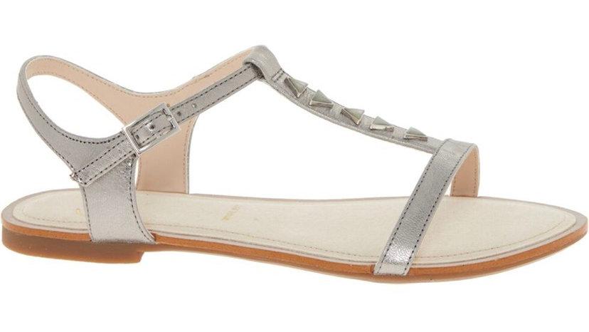 CLARKS ORIGINALS Silver Studded Leather Sandals