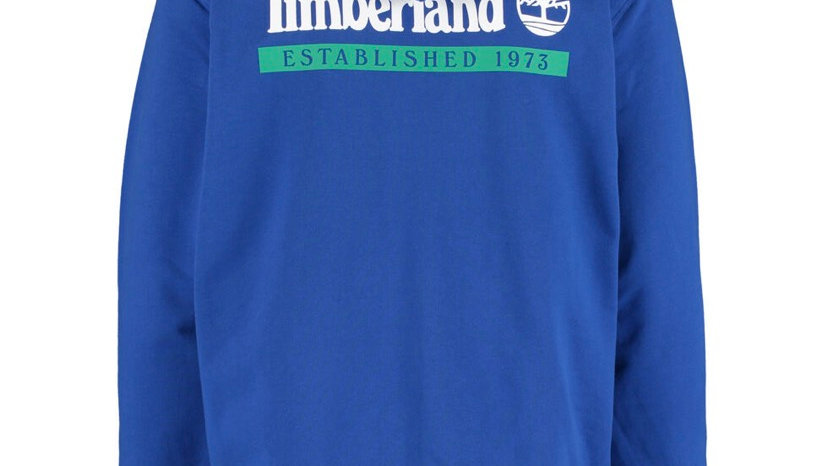 TIMBERLAND Blue Logo Zip-Up Hoodie