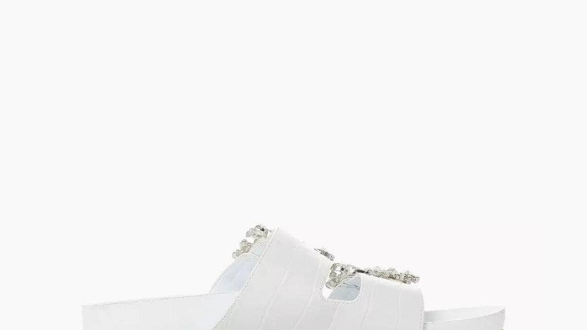 Dune Nastasia White Sandals