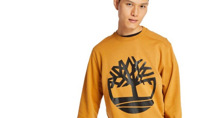 Timberland - TREE LOGO SWEATSHIRT YELLOW