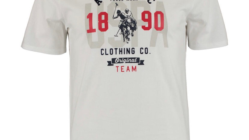 US POLO ASSN White Logo Graphic T Shirt