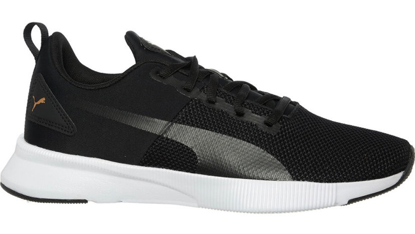 PUMA Black Knitted Flyer Runner Trainers