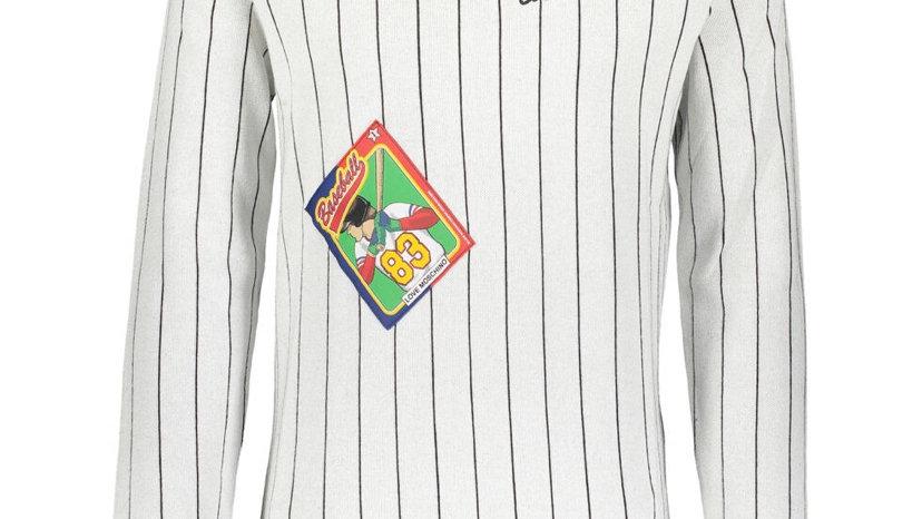 LOVE MOSCHINO Black & White Baseball Jumper