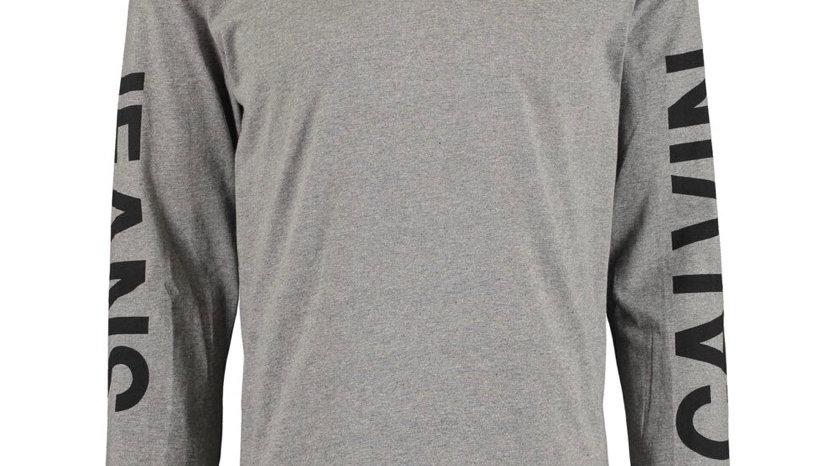 CALVIN KLEIN JEANS Grey Branded Long Sleeve Top