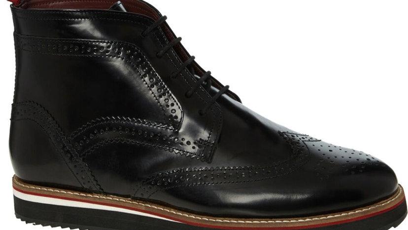 KURT GEIGER Black Leather Derby Boots