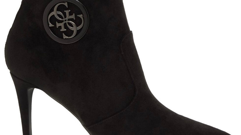 GUESS Black Byrne Heeled Boots