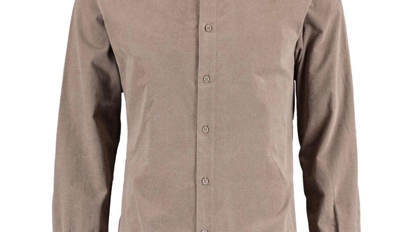 BRUUN & STENGADE Brown Corduroy Slim Fit Shirt