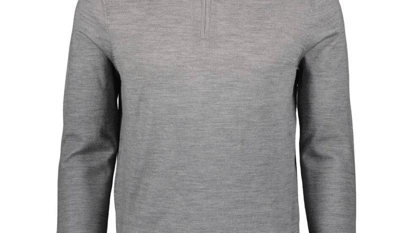 THE SAVILE ROW COMPANY Grey Zip Neck Jumper