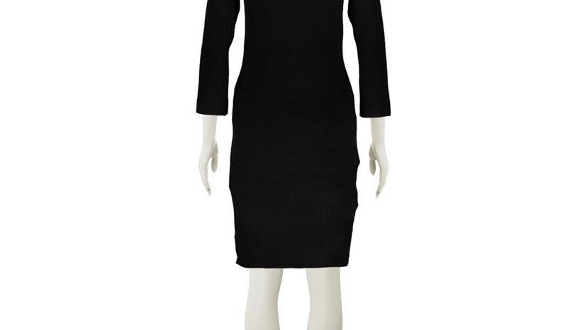 ADRIENNE VITTADINI Black Knitted Mini Dress