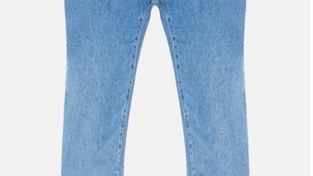 Denim Mid Blue Straight Leg Jean
