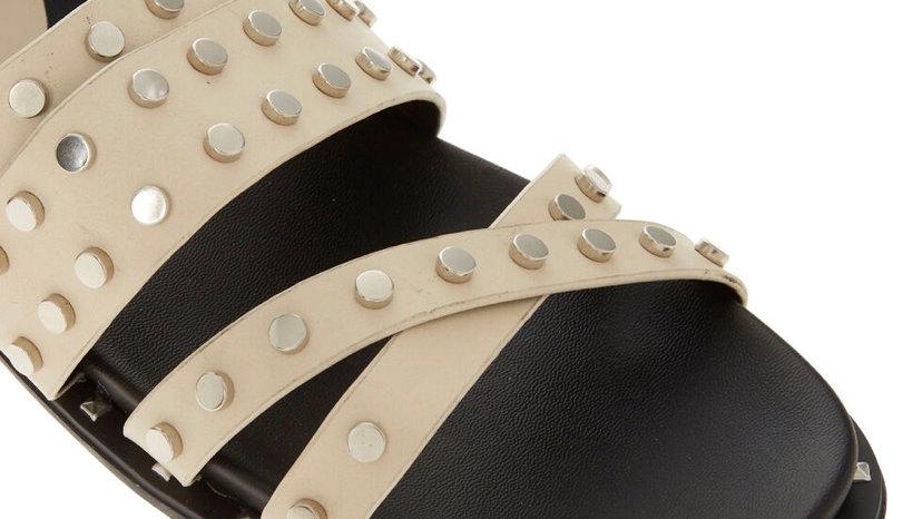 ONYX Cream Studded Sandals