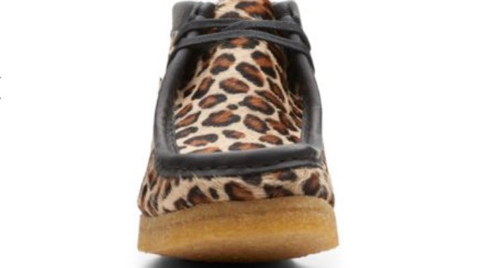 Clark's Wallabee Boot. Leopard Print