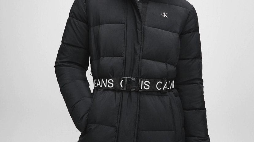 Calvin Klein - NYLON BELTED PUFFER COAT