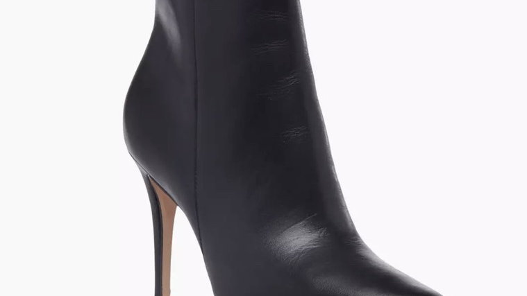 DUNE LONDON - Opal Xx Black Stiletto Pointed Toe Ankle Boots