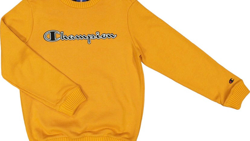CHAMPION Mustard Branded Sweatshirt